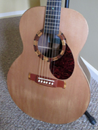 Cat Piggott's guitar, made by Ben Seymour